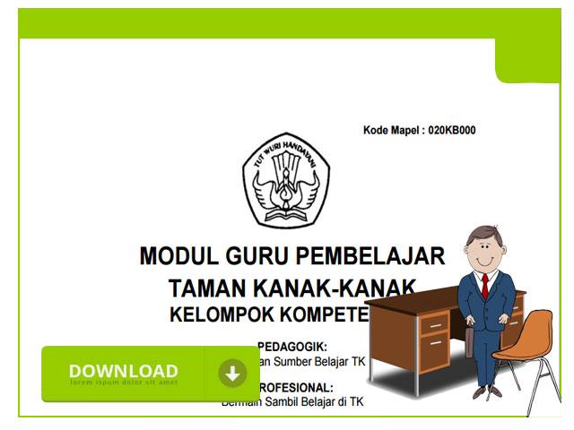 Download Modul Guru Pembelajar Bagi Guru TK/Paud