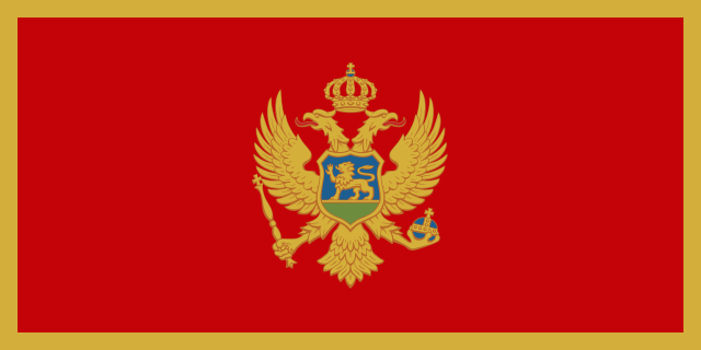 Bendera negara Montenegro - Kedutaan Besar Negara Montenegro
