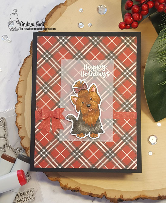 Happy Holidays by Andrea features Terrific Terriers and Snow Globe Scenes by Newton's Nook Designs; #newtonsnook