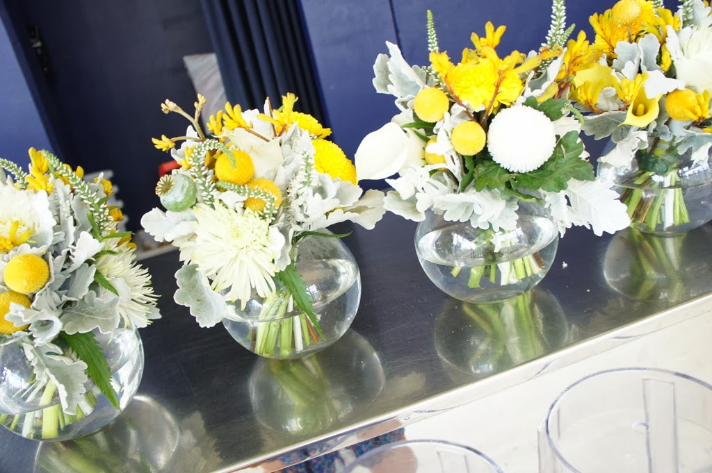 Sugar Bee Flowers: Yellow, Grey And White Wedding Colours