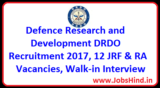 Defence Research and Development DRDO Recruitment 2017