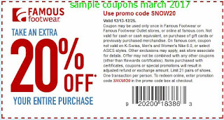 Famous Footwear coupons march
