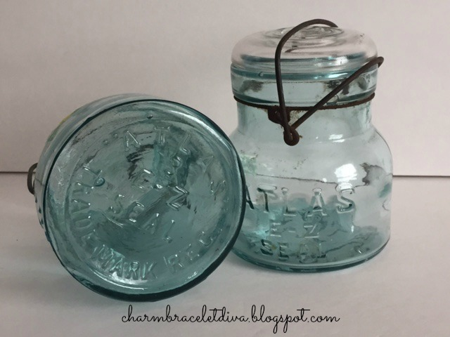Vintage blue Atlas E-Z Seal jar