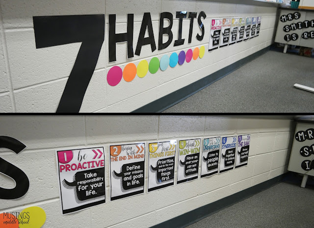 Pictures of my 7 Habits display