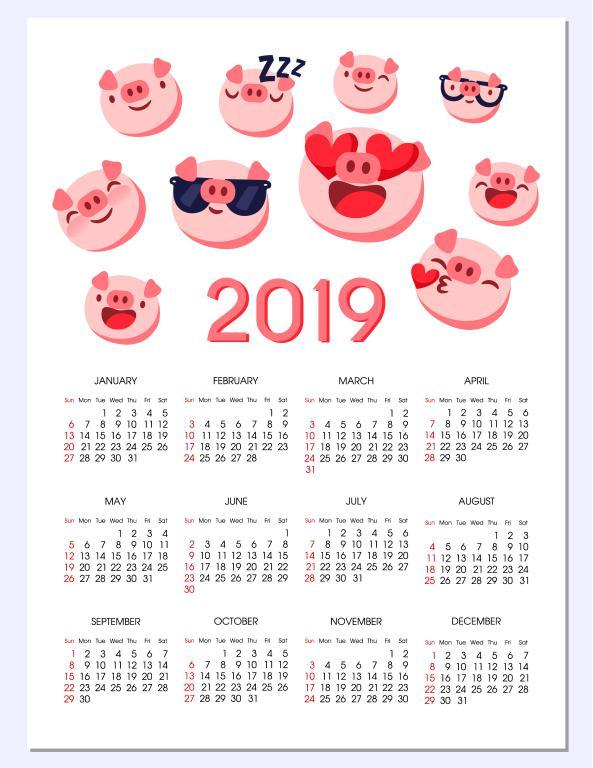 Calendario De Agosto 2019 Decorado.Calendario 2019 Mas De 150 Plantillas Para Imprimir Y