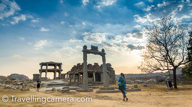 After visiting Vithala Temple, we headed towards Tugbhadra river for sunset. It was 10 minutes walk from Vithala Temple.