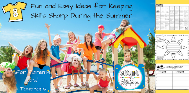 here it is...what you have all been looking for....8+Funs and Easy Ways for Keeping SkillsSharp During those Summer Monthe...Bet you will LOVE them ALL...My fave is # 7