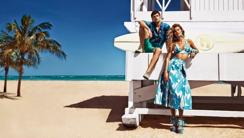Gisele soaks up sunlight for the Colcci Summer 2015 Campaign
