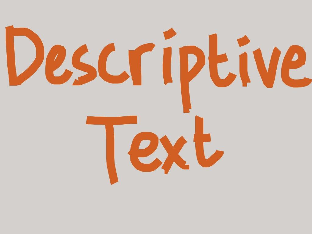 Teks Descriptive