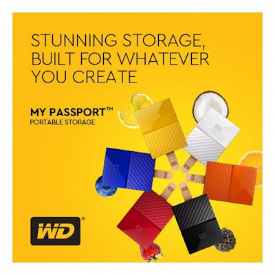 WD My Passport 2017 1TB USB 3.0 Portable Hard Drive