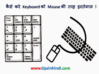 How to use Keyboard as Mouse in Hindi