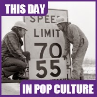 The national speed limit was set at 55 on January 2, 1974.
