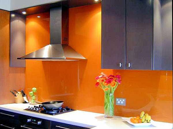 Orange Kitchen Splashback