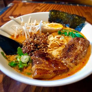 Spicy sesame tonkotsu ramen at Tajima Ramen