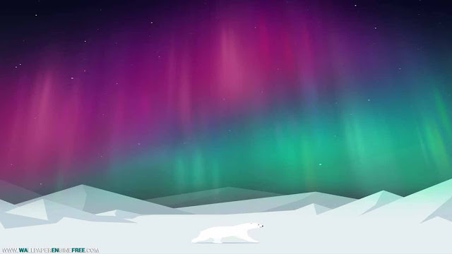 Download Arctic World Polar Bears And Aurora Wallpaper Engine