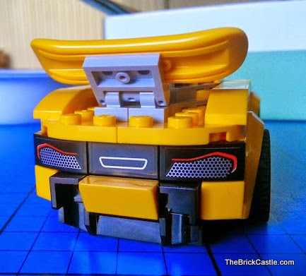 LEGO hybrid supercar McLaren P1 rear end spoiler and exhaust stickers