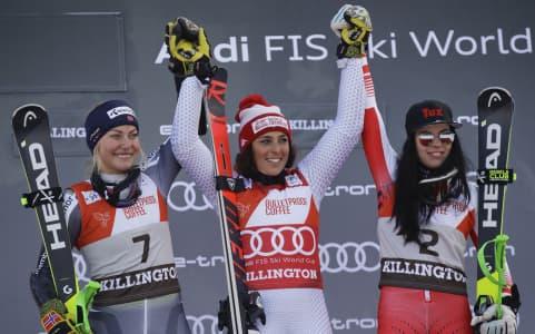 Federica Brignone Wins Giant Slalom in Killington (Vermont)