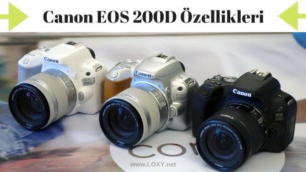 canon 200D özellikleri