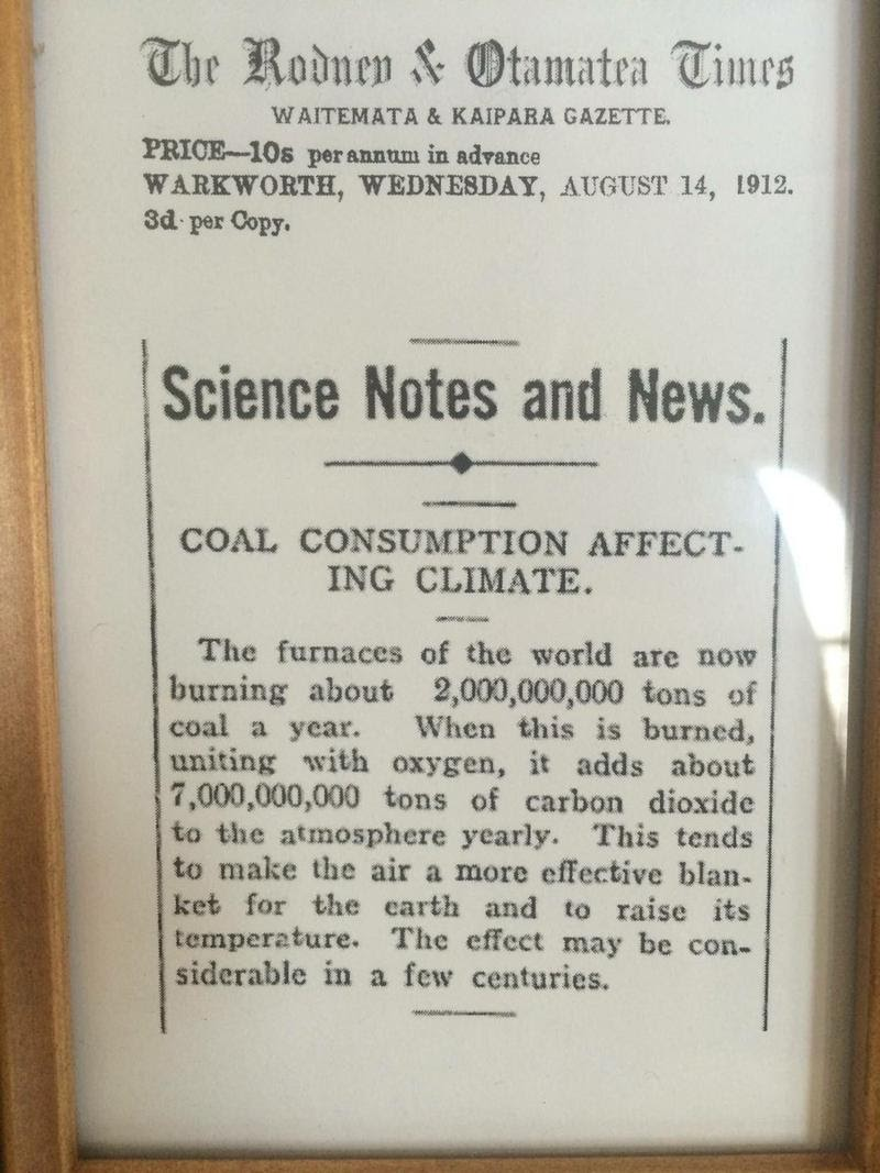 Coal consumption affecting climate (1912)