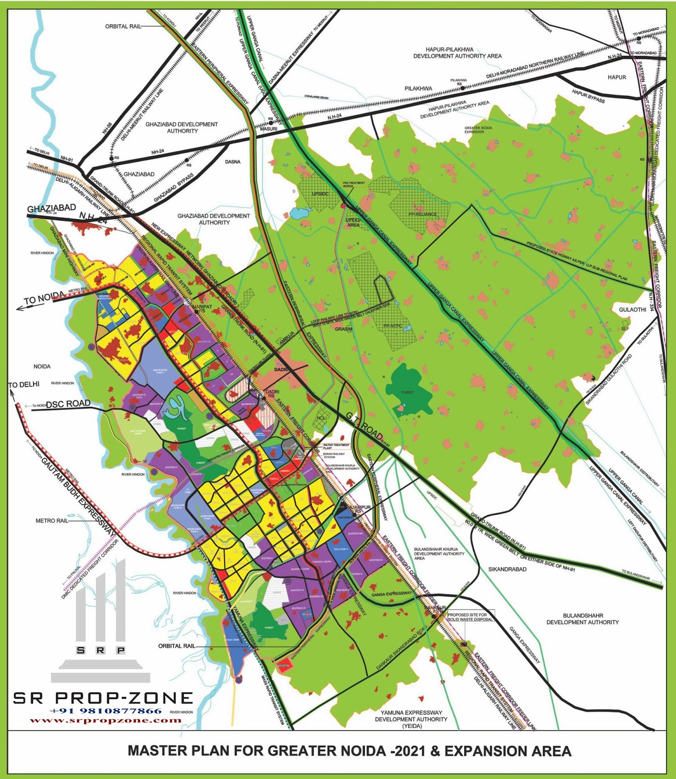 Greater Noida Map Greater Noida Master Plan With Village Name High Quality Map Greater Noida Map