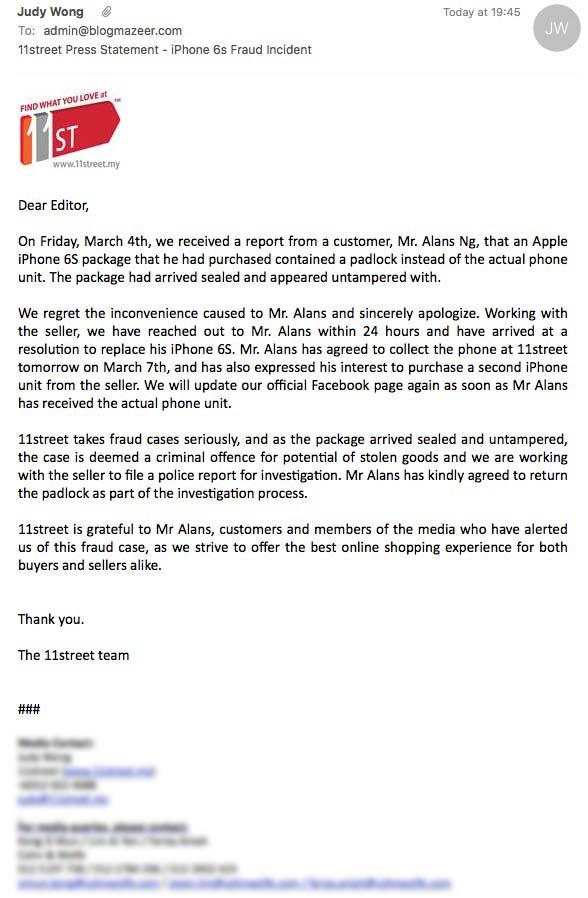 iPhone 6S Jadi Kunci Mangga di 11Street.My