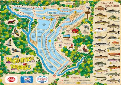 Mappa Parco Ittico Paradiso