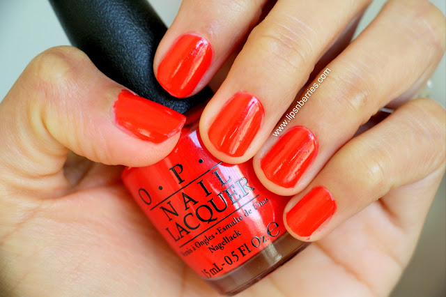 OPI I stop for red nail paint