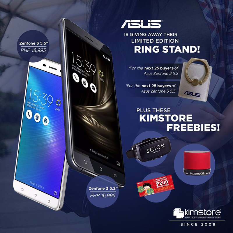 Legit Asus ZenFone 3 ZE520KL And ZE552KL Comes With Exciting Freebies At Kimstore!