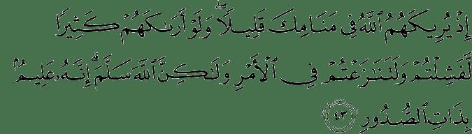 Surat Al Anfal Ayat 43