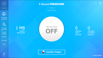 Screenshot F-secure Freedome VPN 2.10.4980.0 With Trial Reset