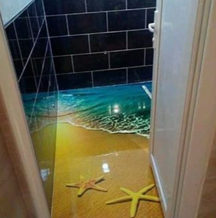 3d bathroom floor mural, 3d epoxy flooring