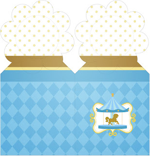 Carousel in Light Blue: Free Party Printables.