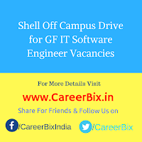 Shell Off Campus Drive for GF IT Software Engineer Vacancies