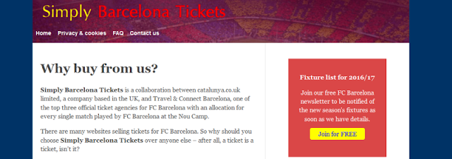 trusted online supplier of FC Barcelona tickets