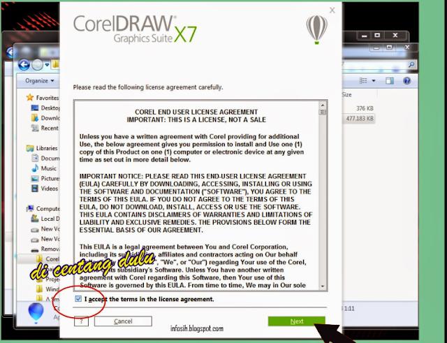 cara instal corel draw x7 + keygen