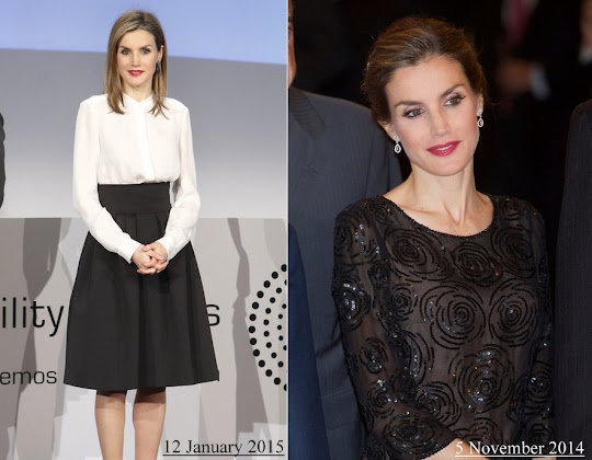 Queen letizia wore Felipe Varela Dress Magrit shoes