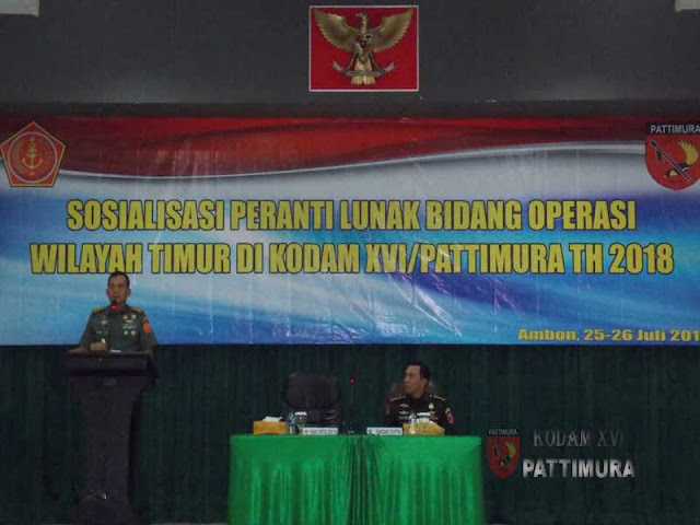 70 Pejabat Terima Sosialisasi Piranti Lunak Bidang Operasi Wilayah Timur TNI-AD