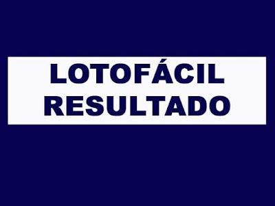 Resultado Lotofácil Concurso 1765
