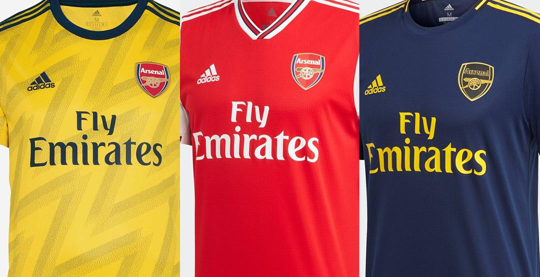 new styles 2c2db c40e4 Best Set Of The Season? Adidas Arsenal 19-20 Home, Away ...