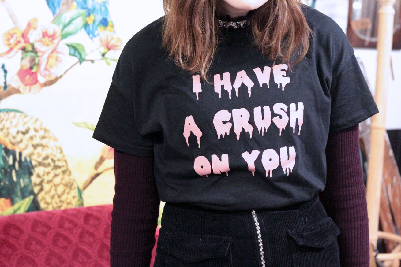pull & bear I have a crush on you t shirt