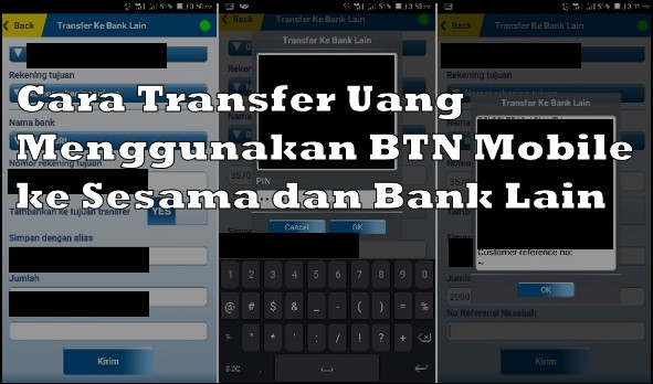 Cara Transfer Uang Menggunakan BTN Mobile ke Sesama dan Bank Lain