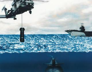 Погружаемая бортовая гидролокационная система AQS-18(V)-3