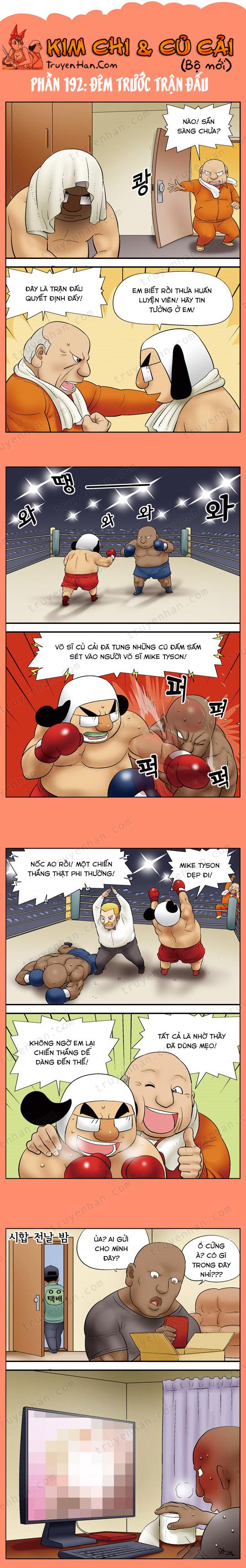 Kim Chi & Củ Cải (bộ mới) phần 192: Đêm trước trận đấu