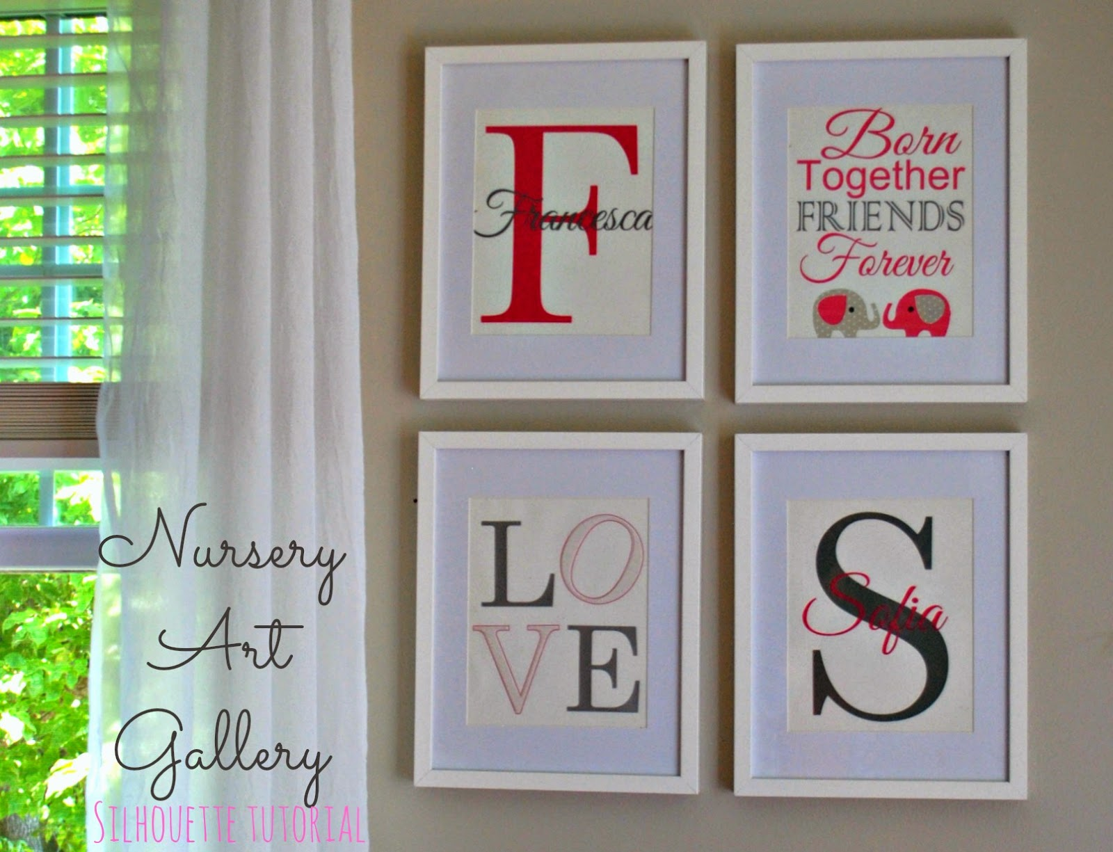 DIY, do it yourself, nursery, art, Silhouette Tutorial