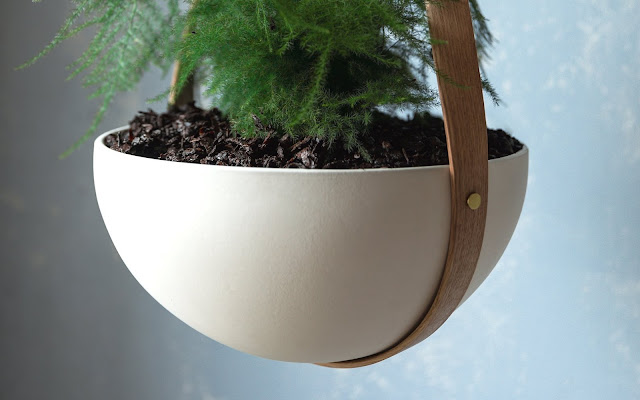 Morvah Wall Hanging Planters detail