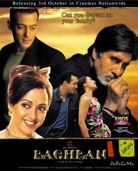 Baghban 2003 Hindi 720p BrRip 1.3GB, Baghbaan hindi movie 700MB Brrip bluray 720p free download or watch online at world4ufree.be