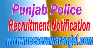 Punjab Police Recruitment Notification 2016 punjabpolicerecruitment.in