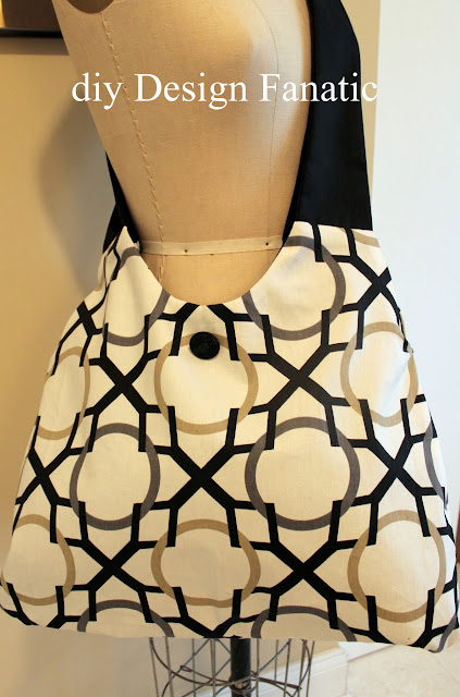 hobo bag, sewing project, fabric hobo bag