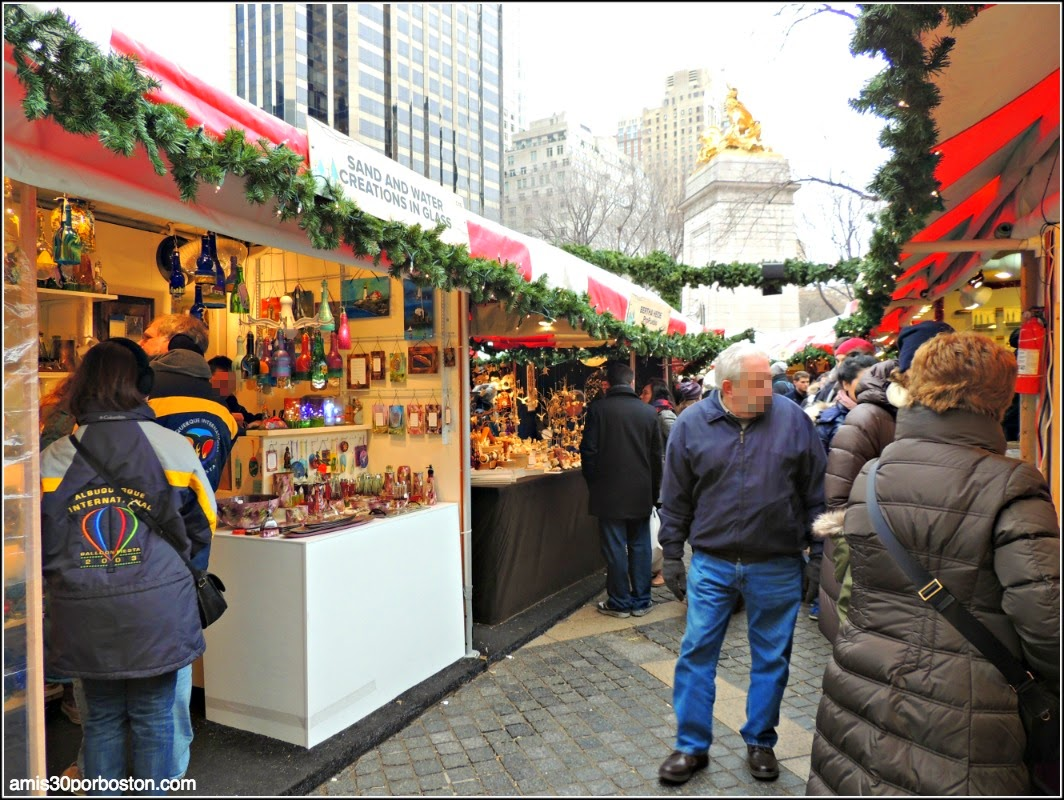 Mercadillos Navideños en Nueva York: The Columbus Circle Holiday Market