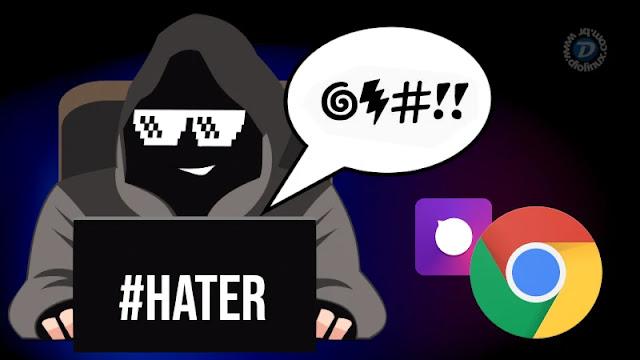 google-chrome-tune-extensão-hater-comentário